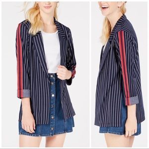 Almost famous pinstriped blazer jacket • small